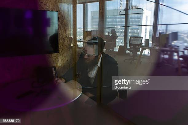 David Weinberg tech enterpreneur and cofounder of Pareto works at the Clicktale Ltd offices in the Ramat Gan district of Tel Aviv Israel on Sunday...