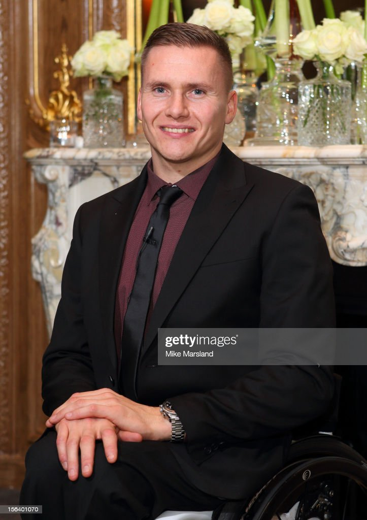 David Weir attends an Olympic and Paralympic review dinner hosted by Omega at Claridge's Hotel on November 14, 2012 in London, England.