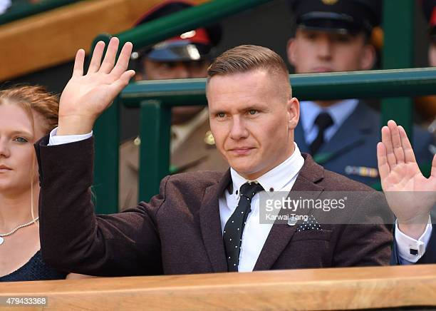 David Weir attends day six of the Wimbledon Tennis Championships at Wimbledon on July 4 2015 in London England