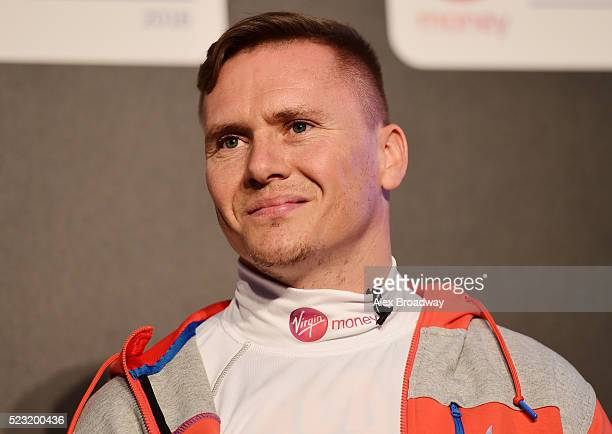 David Weir of Great Britain attends a press conference ahead of the Virgin Money London Marathon at The Tower Hotel on April 22 2016 in London England