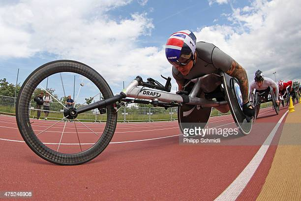 David Weir of Great Britain competes in the 1500m race at the ParAthletics Grand Prix on May 30 2015 in Nottwil Switzerland