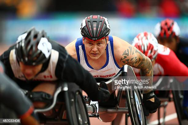 David Weir of Great Britain competes in the Men's 1500m T54 during the IPC Grand Prix Final on Day Three of the Sainsbury's Anniversary Games at The...