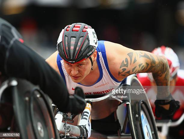 David Weir of Great Britain in action during the Men's 1500m T54 race during day three of the Sainsbury's Anniversary Games at The Stadium Queen...