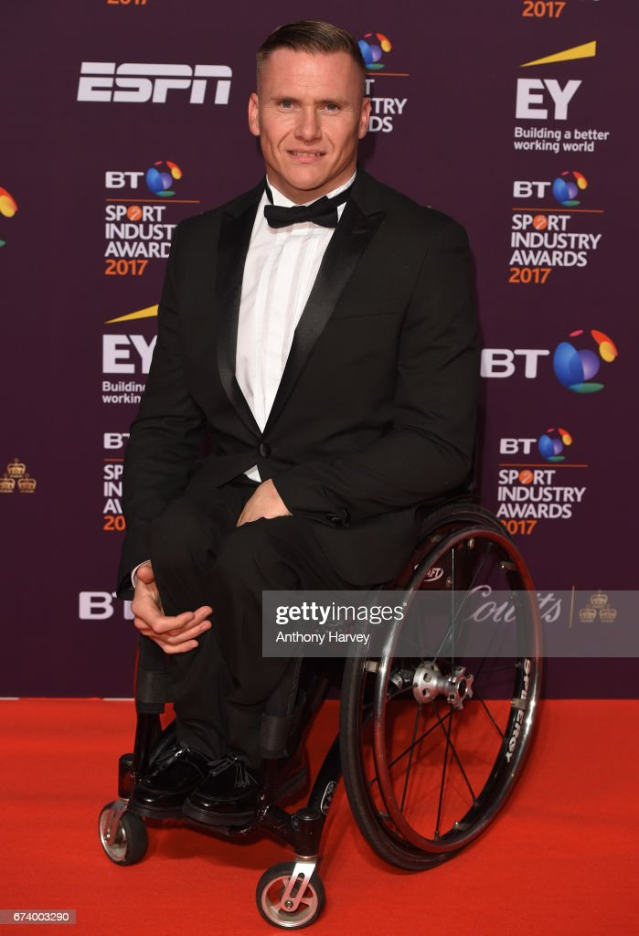 David Weir poses on the red carpet during the BT Sport Industry Awards 2017 at Battersea Evolution on April 27, 2017 in London, England. The BT Sport Industry Awards is the most prestigious commercial sports awards ceremony in Europe, where over 1,750 of the industry's key decision-makers mix with high profile sporting celebrities for the industry's most anticipated night of the sport business calendar.