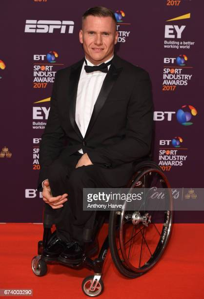 David Weir poses on the red carpet during the BT Sport Industry Awards 2017 at Battersea Evolution on April 27 2017 in London England The BT Sport...