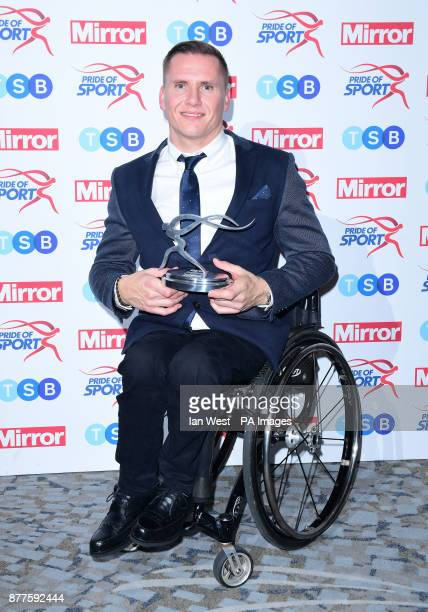 David Weir wins the Lifetime Achievement Award at the Pride of Sport awards presented by Sol Campbell and David Seaman at the Grosvenor House hotel...