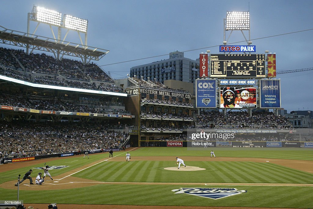 David Wells 33 Of The San Diego Padres Delivers First Pitch Game