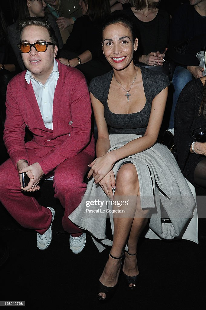 David Wertheimer and <a gi-track='captionPersonalityLinkClicked' href=/galleries/search?phrase=Ines+Sastre&family=editorial&specificpeople=206220 ng-click='$event.stopPropagation()'>Ines Sastre</a> attend the Elie Saab Fall/Winter 2013 Ready-to-Wear show as part of Paris Fashion Week on March 6, 2013 in Paris, France.