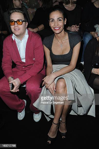 David Wertheimer and Ines Sastre attend the Elie Saab Fall/Winter 2013 ReadytoWear show as part of Paris Fashion Week on March 6 2013 in Paris France