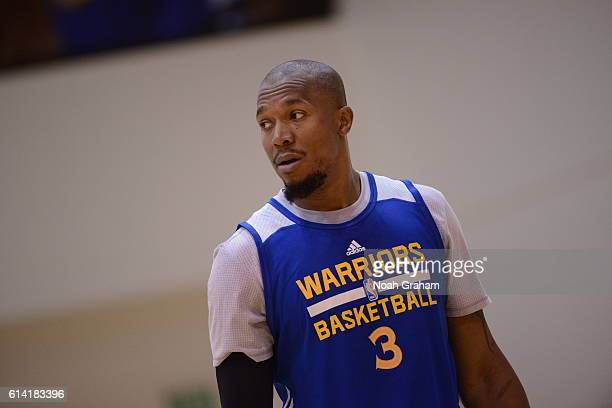 David West of the Golden State Warriors during practice on October 8 2016 at the Warriors Practice Facility in Oakland California NOTE TO USER User...