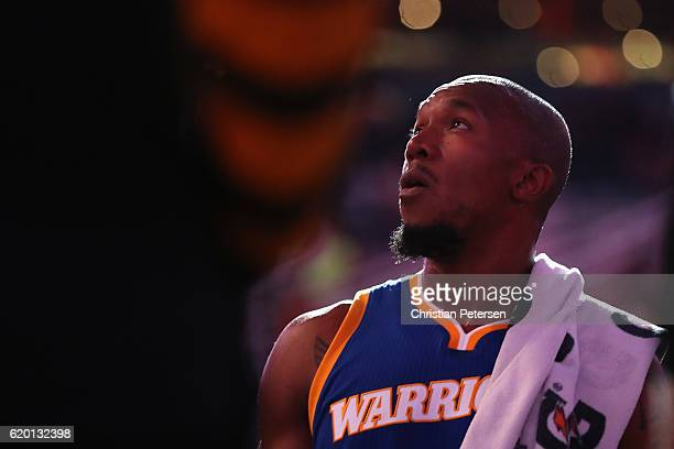 David West of the Golden State Warriors during the first half of the NBA game against the Phoenix Suns at Talking Stick Resort Arena on October 30...