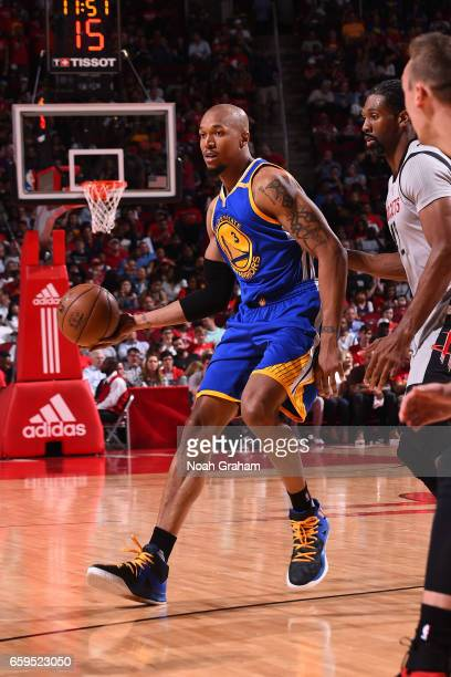 David West of the Golden State Warriors handles the ball against the Houston Rockets on March 28 2017 at the Toyota Center in Houston Texas NOTE TO...