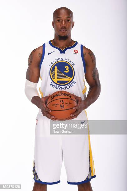 David West of the Golden State Warriors poses for a portrait during media day on September 22 2017 at Oracle Arena in Oakland California NOTE TO USER...