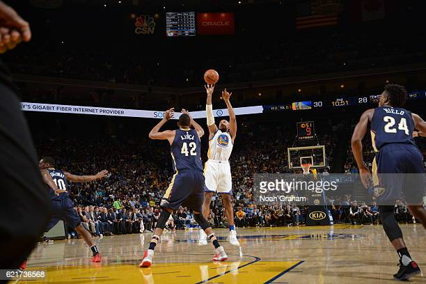 David West of the Golden State Warriors shoots the ball New Orleans Pelicans on November 7 2016 at ORACLE Arena in Oakland California NOTE TO USER...
