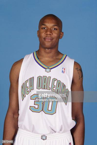 David West of the New Orleans Hornets poses for a portrait during NBA Media Day at Alario Center on October 2 2003 in Westwego Louisana NOTE TO USER...