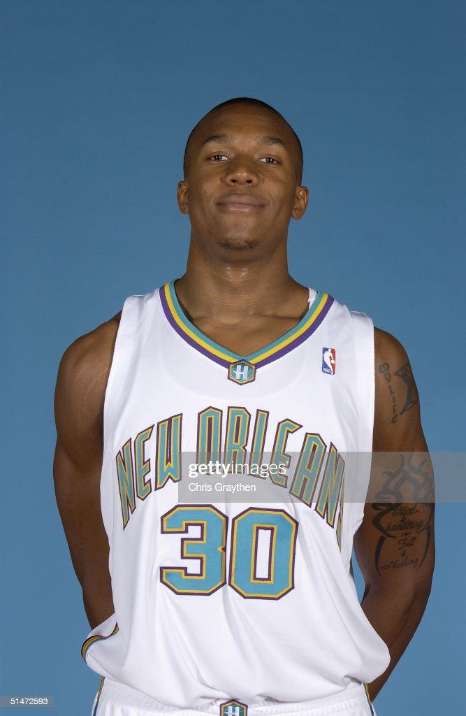 David West of the New Orleans Hornets poses for a portrait during NBA Media Day on October 4 2004 in New Orleans Louisiana NOTE TO USER User...