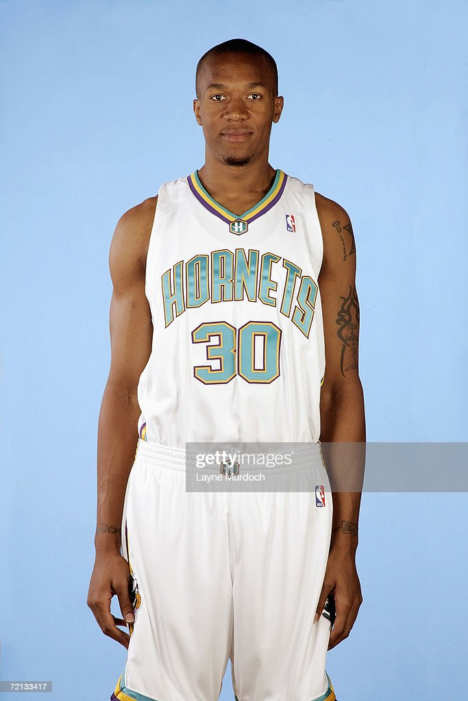 David West of the New Orleans/Oklahoma City Hornets poses for photos during Media Day on October 2 2006 at Southern Nazerene University in Bethany...