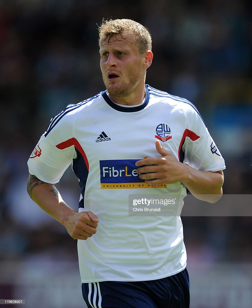 <a gi-track='captionPersonalityLinkClicked' href=/galleries/search?phrase=David+Wheater&family=editorial&specificpeople=847851 ng-click='$event.stopPropagation()'>David Wheater</a> of Bolton Wanderers looks on during the Sky Bet Championship match between Burnley and Bolton Wanderers at Turf Moor on August 03, 2013 in Burnley, England.