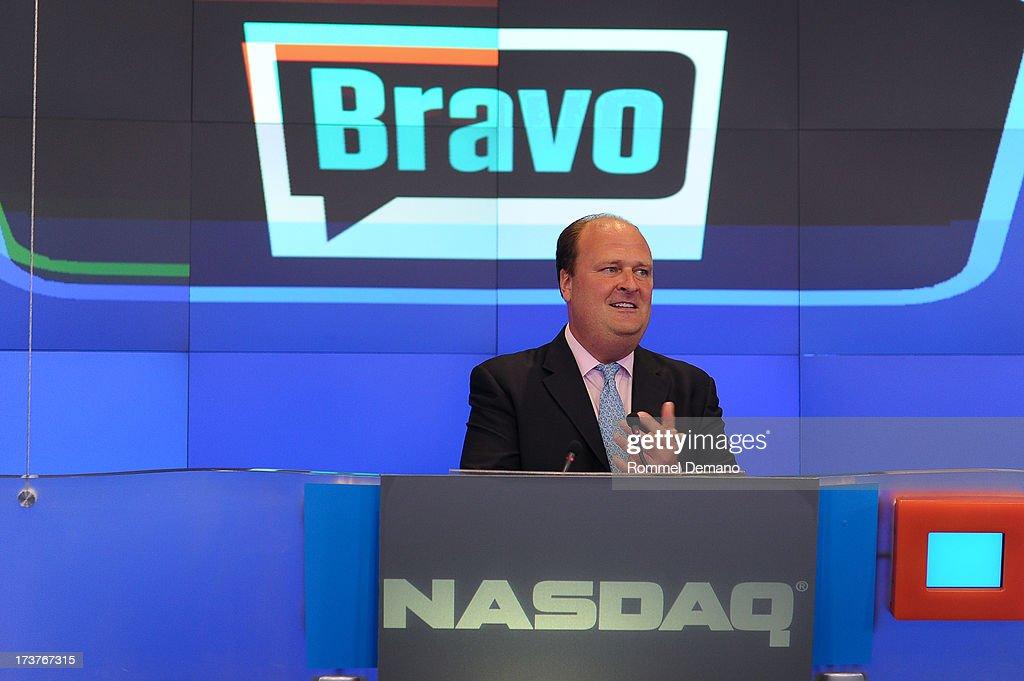David Wicks rings the NASDAQ closing bell at NASDAQ MarketSite on July 17, 2013 in New York City.
