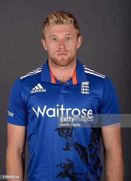 David Willey of England poses for a portrait at Edgbaston on June 8 2015 in Birmingham England