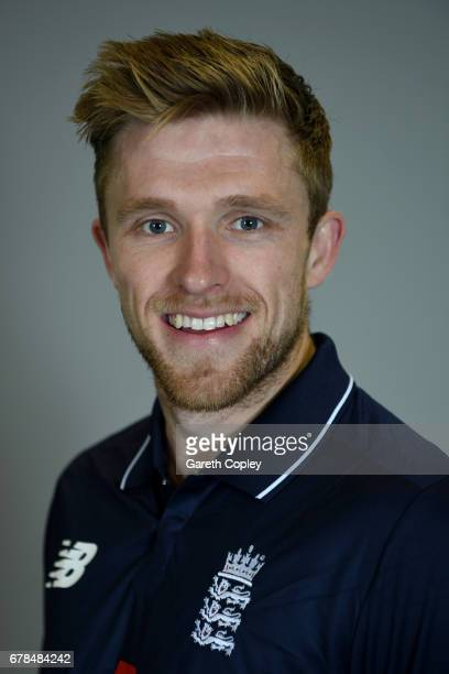 David Willey of England poses for a portrait at The Brightside Ground on May 4 2017 in Bristol England