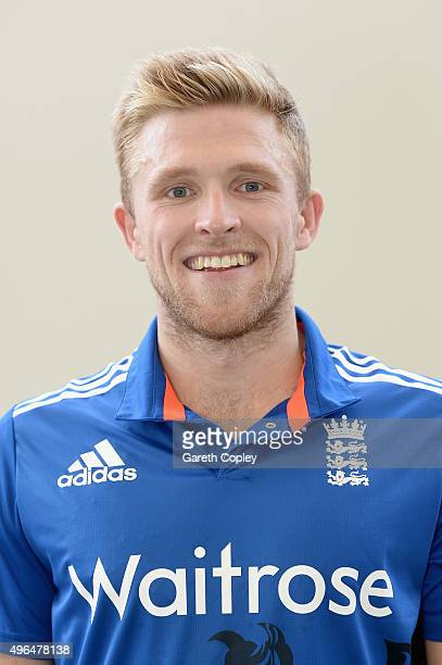 David Willey of England poses for a portrait at Zayed Cricket Stadium on November 10 2015 in Abu Dhabi United Arab Emirates