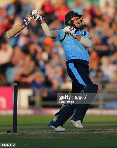 David Willey of Yorkshire Vikings during the NatWest T20 Blast at Headingley on August 17 2017 in Leeds England