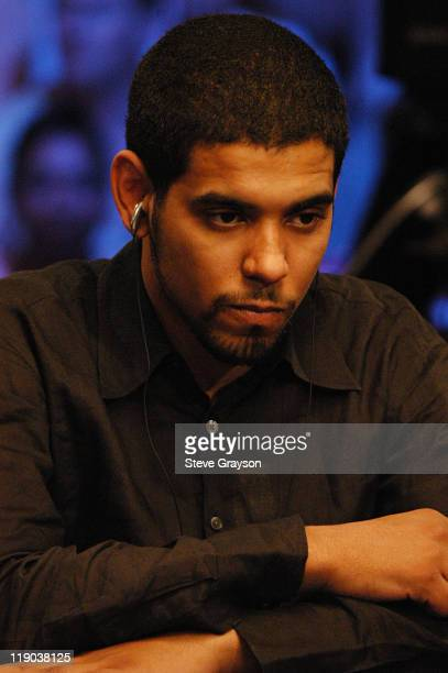 David Williams comtemplates his hand during the final round of the 2004 World Series of Poker at Binion's Horseshoe Club and Casino in Las Vegas...