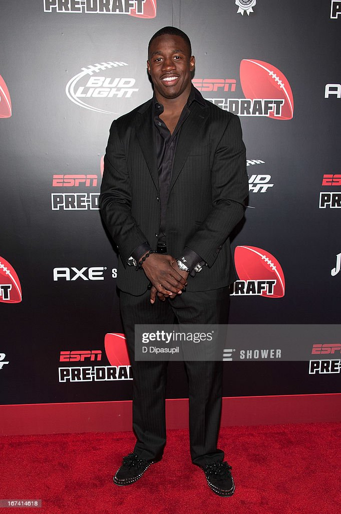 David Wilson attends the ESPN The Magazine 10th annual Pre-Draft Party at The IAC Building on April 24, 2013 in New York City.