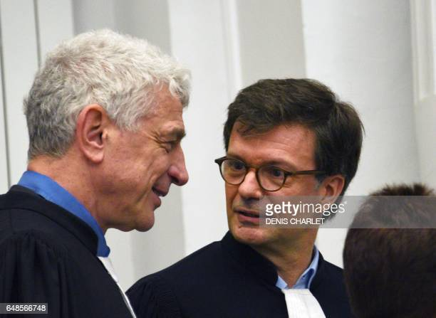 David Winter French lawyer of the main union of prison guards UFAP and the prison guards taken hostages during a jailbreak of the Sequedin prison in...