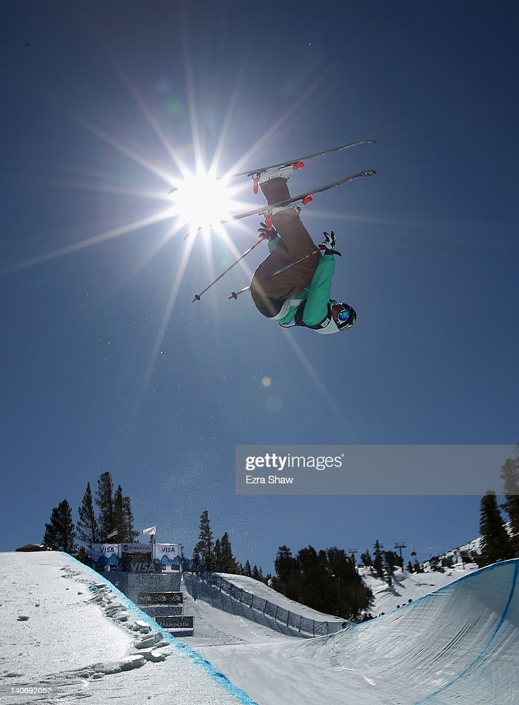 David Wise competes in the men's freeskiing half pipe final during the U.S. Snowboarding and Freeskiing Grand Prix at Mammoth Mountain on March 4, 2012 in Mammoth, California. Wise finished the event in first place.