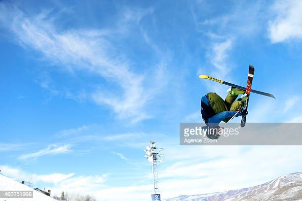 David Wise of the USA competes during the Winter X Games Men's Ski Superpipe on January 25 2015 in Aspen USA