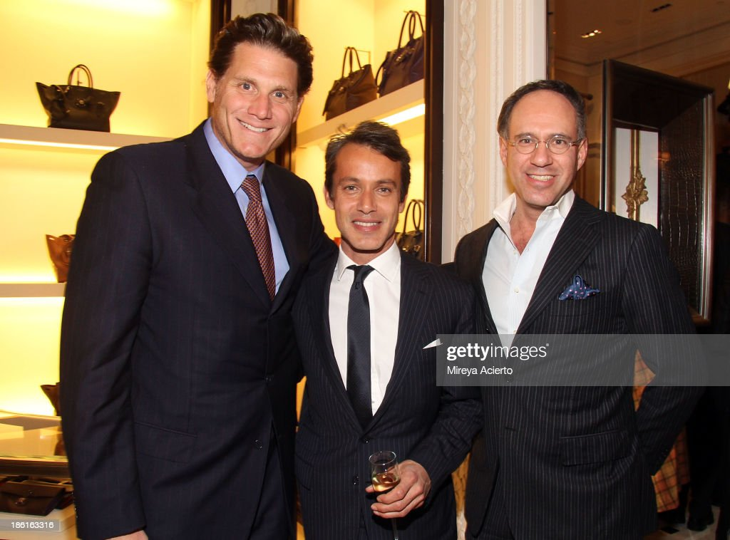 David Wolkoff, Andrew Lauren and Andrew Saffir attend Ralph Lauren Presents Exclusive Screening Of Hitchcock's To Catch A Thief Celebrating The Princess Grace Foundation at Ralph Lauren Women's Store on October 28, 2013 in New York City.