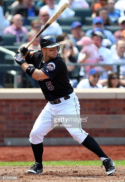 David Wright of the New York Mets bats against the Atlanta Braves on May 13 2009 at Citi Field in the Flushing neighborhood of the Queens borough of...