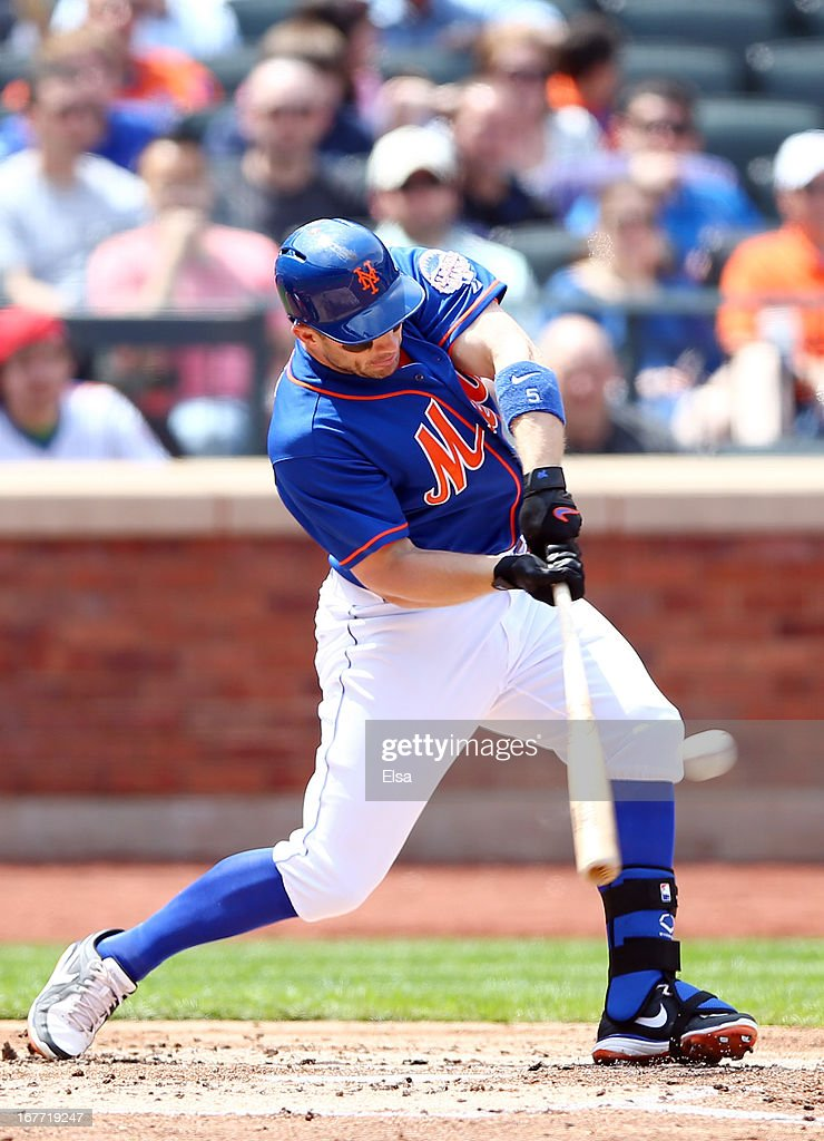 <a gi-track='captionPersonalityLinkClicked' href=/galleries/search?phrase=David+Wright+-+Baseball+Player&family=editorial&specificpeople=209172 ng-click='$event.stopPropagation()'>David Wright</a> #5 of the New York Mets hits an RBI single in the first inning against the Philadelphia Phillies on April 28, 2013 at Citi Field in the Flushing neighborhood of the Queens borough of New York City.