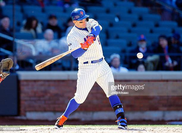 David Wright of the New York Mets in action against the Washington Nationals during their Opening Day game at Citi Field on March 31 2014 in the...