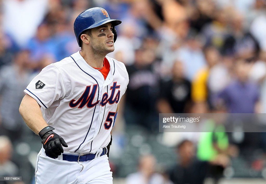 <a gi-track='captionPersonalityLinkClicked' href=/galleries/search?phrase=David+Wright+-+Baseball+Player&family=editorial&specificpeople=209172 ng-click='$event.stopPropagation()'>David Wright</a> #5 of the New York Mets looks on after hitting a home run against the Pittsburgh Pirates at Citi Field on September 27, 2012 in the Flushing neighborhood of the Queens borough of New York City.