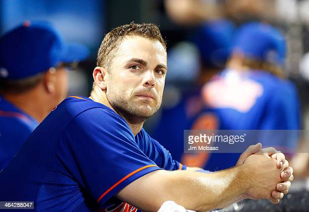 David Wright of the New York Mets looks on against the Washington Nationals at Citi Field on June 28 2013 in the Flushing neighborhood of the Queens...