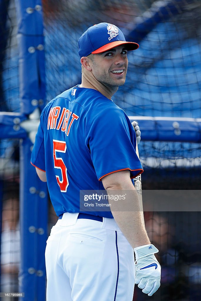 David Wright #5 of the New York Mets stands on the field for batting practice prior to the game against the St. Louis Cardinals at Tradition Field on February 27, 2013 in Port St. Lucie, Florida.