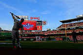David Wright of the New York Mets watis to bat against the Washington Nationals during Opening Day at Nationals Park on April 6 2015 in Washington DC
