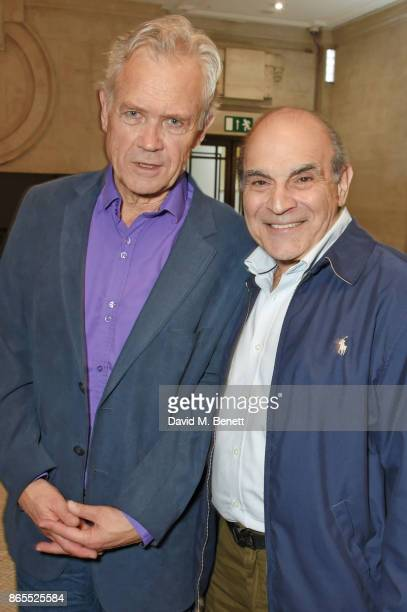 David Yelland and David Suchet attend the press night performance of 'Witness For The Prosecution' at London County Hall on October 23 2017 in London...