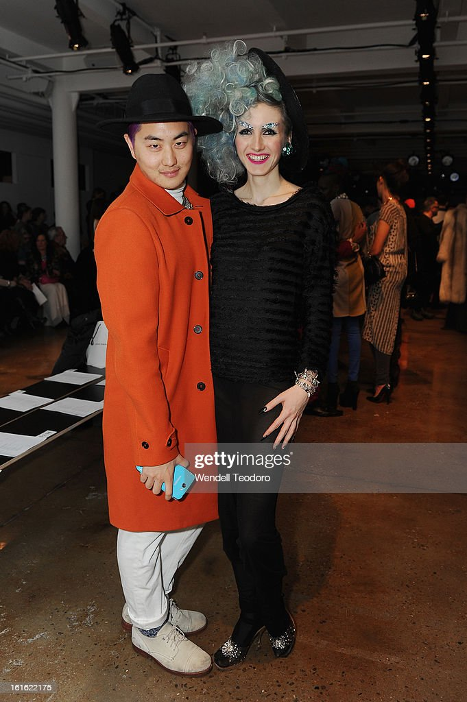 David Yi and Stella Rose attend The Blonds during Fall 2013 MADE Fashion Week at Milk Studios on February 12, 2013 in New York City.
