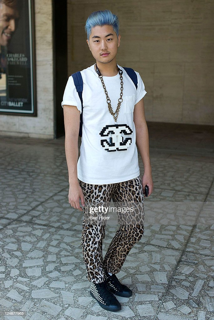 David Yi is seen on the streets of Manhattan during Spring 2012 Fashion Week on September 13, 2011 in New York City.