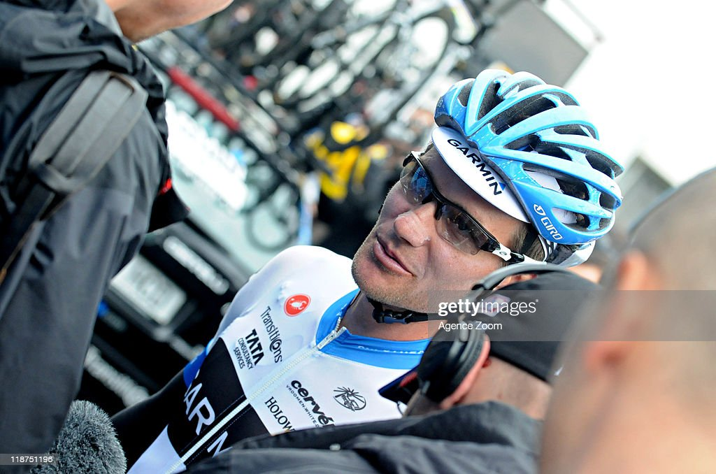 David Zabriskie of Team Garmin - Cervelo during Stage 9 of the Tour de France on July 10, 2011 from Issoire to Saint-Flour, France.