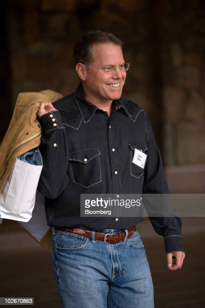 David Zaslav president and chief executive officer of Discovery Communications Inc arrives at the Allen Co Media and Technology Conference in Sun...