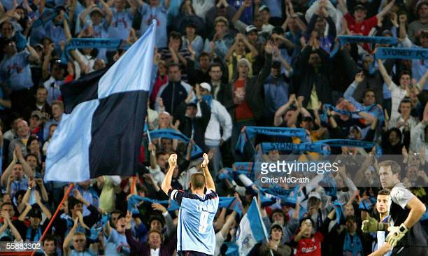 David Zdrilic of Sydney waves to fans during the round seven Hyundai ALeague match between Sydney FC and Adelaide United held at Aussie Stadium...