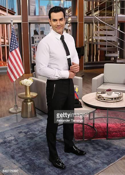 David Zepeda is seen on the set of 'El Gordo y La Flaca' at Univision Studios on June 16 2016 in Miami Florida