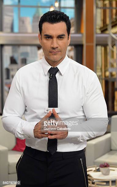 David Zepeda is seen on the set of 'El Gordo y La Flaca' at Univision Studios on June 16 2016 in Miami Florida