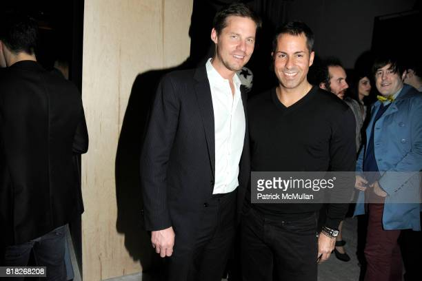 David Zinczenko and Brian Boye attend CALVIN KLEIN COLLECTION Afterparty to Celebrate the Men's Women's Fall 2010 Collections at 15 Little West 12th...
