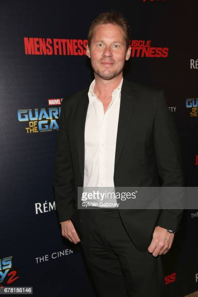 David Zinczenko attends The Cinema Society with Men's Fitness Muscle Fitness and Remy Martin host a screening of Marvel Studios' 'Guardians of the...